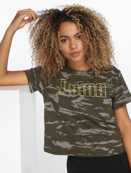 Puma T-Shirty Camo moro