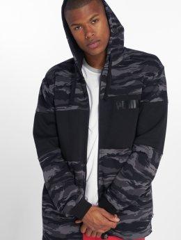 Puma Zip Hoodie Camo Fleece black