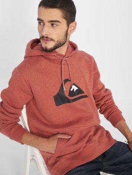 Quiksilver Felpa con cappuccio Big Logo rosso