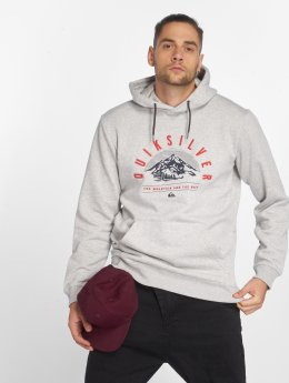 Quiksilver Sweat capuche Big Logo Snow gris