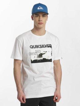 Quiksilver T-Shirt Classic Black Horizon blanc