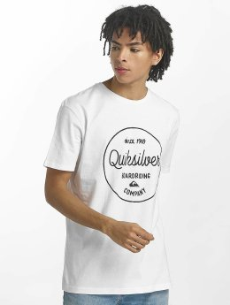 Quiksilver T-Shirt Classic Morning Slides blanc