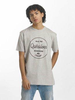 Quiksilver T-Shirt Classic Morning Slides grau