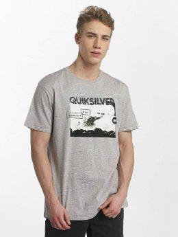 Quiksilver T-Shirt  Classic Black Horizon grau