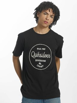 Quiksilver T-Shirt Classic Morning Slides schwarz