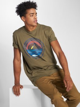 Quiksilver T-Shirty Northwest zielony