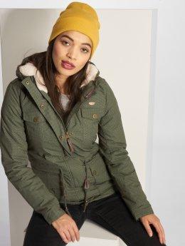 Ragwear Зимняя куртка Laika Minidots оливковый