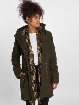 Ragwear winterjas Elba Coat olijfgroen