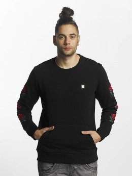 Red Bridge Pullover Red Rose Flower schwarz