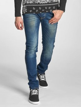 Red Bridge Slim Fit Jeans Washed blau