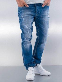 Red Bridge Straight Fit Jeans Destroyed blau