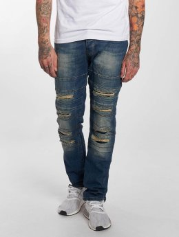 Red Bridge Straight fit jeans Destroyed blauw