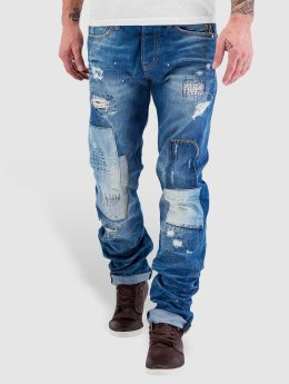 Red Bridge Straight Fit Jeans Patches  blue