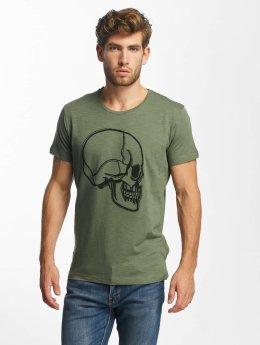 Red Bridge T-Shirt Stiched Skull kaki