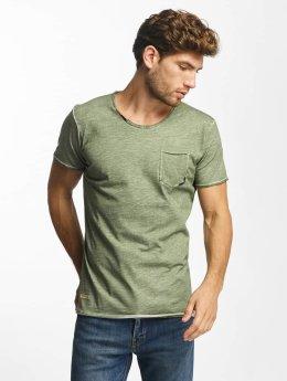 Red Bridge t-shirt Thread Detail khaki