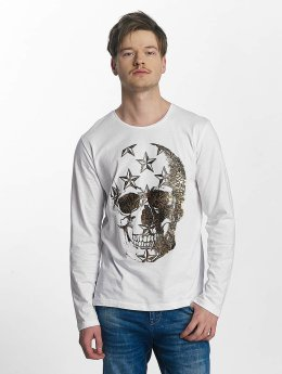 Red Bridge Big Skull Longsleeve White