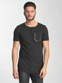 Red Bridge t-shirt Leather Rivets zwart