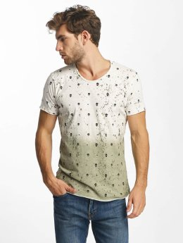 Red Bridge Allover Skull T-Shirt Khaki