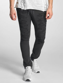 Red Bridge Ripped Sweatpants Black