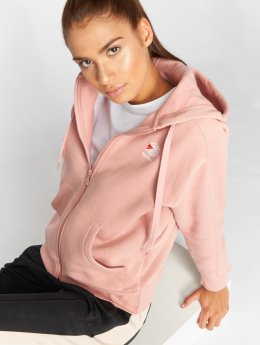 Reebok Sudaderas con cremallera F Fleece Full rosa