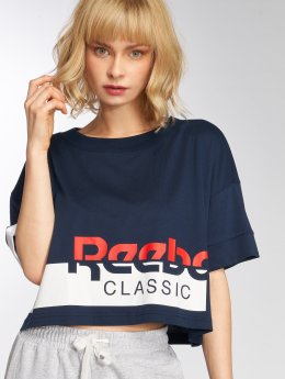 Reebok t-shirt Ac Cropped blauw