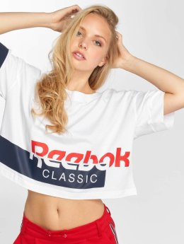 Reebok T-Shirty Ac Cropped bialy