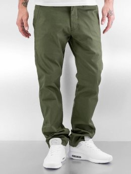 Reell Jeans Látkové kalhoty Straight Flex olivový