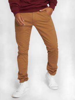 Reell Jeans Pantalone chino Flex Tapered marrone