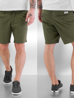 Reell Jeans shorts Flex Chino olijfgroen