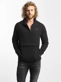 Reell Jeans trui Track Half Zip zwart