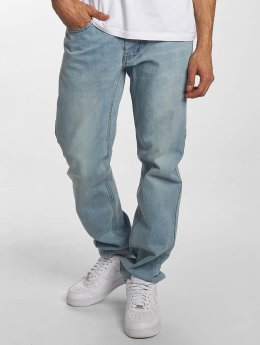 Rocawear Straight fit jeans Moletro Leather Patch blauw