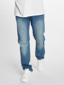 Rocawear Straight Fit Jeans Moletro Leather Patch modrý