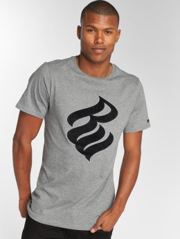 Rocawear Velvet Logo T-Shirt Grey Melange