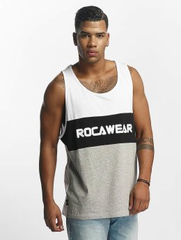 Rocawear Tank Tops Color Block bialy