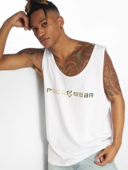 Rocawear Tank Tops Camo bianco