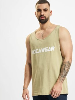 Rocawear Tank Tops Color Block khakiruskea