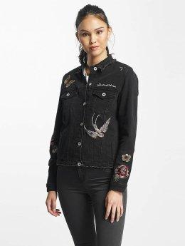 Rock Angel Jeansjacken Nia Embroideries schwarz