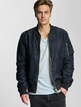 Schott NYC Bomber jacket Jacquard blue