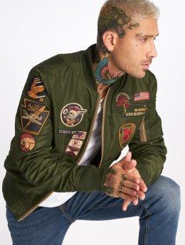 Schott NYC Bomber jacket Nyc Jkt Ac Badges khaki