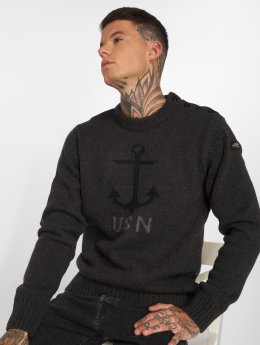 Schott NYC Pullover Pl Outlast Knit gray