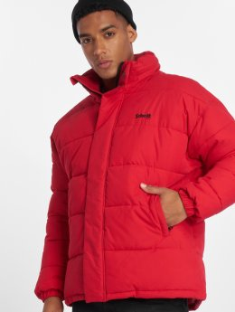Schott NYC Winter Jacket Nebraska red