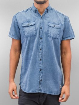 SHINE Original Camisa Washed And Worn Out azul