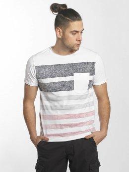 SHINE Original Camiseta Faded Stripe blanco