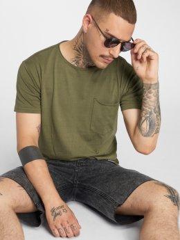 SHINE Original Camiseta Dyed & Wash Out verde