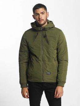 SHINE Original Hooded Bomber Jacket Dark Green