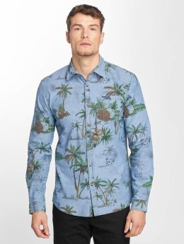 SHINE Original Hemd Riley AOP blau