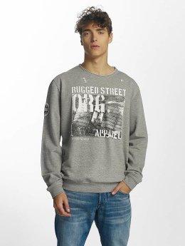 SHINE Original Jimmy Rugged Sweatshirt Grey Melange
