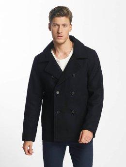 SHINE Original Kabáty Button Row   modrá