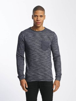 SHINE Original Pullover Malcom Pocket Inside Out blau