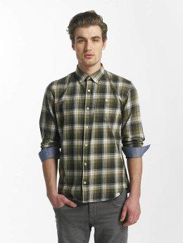 SHINE Original Skjorte Fernando Grunge Check grøn